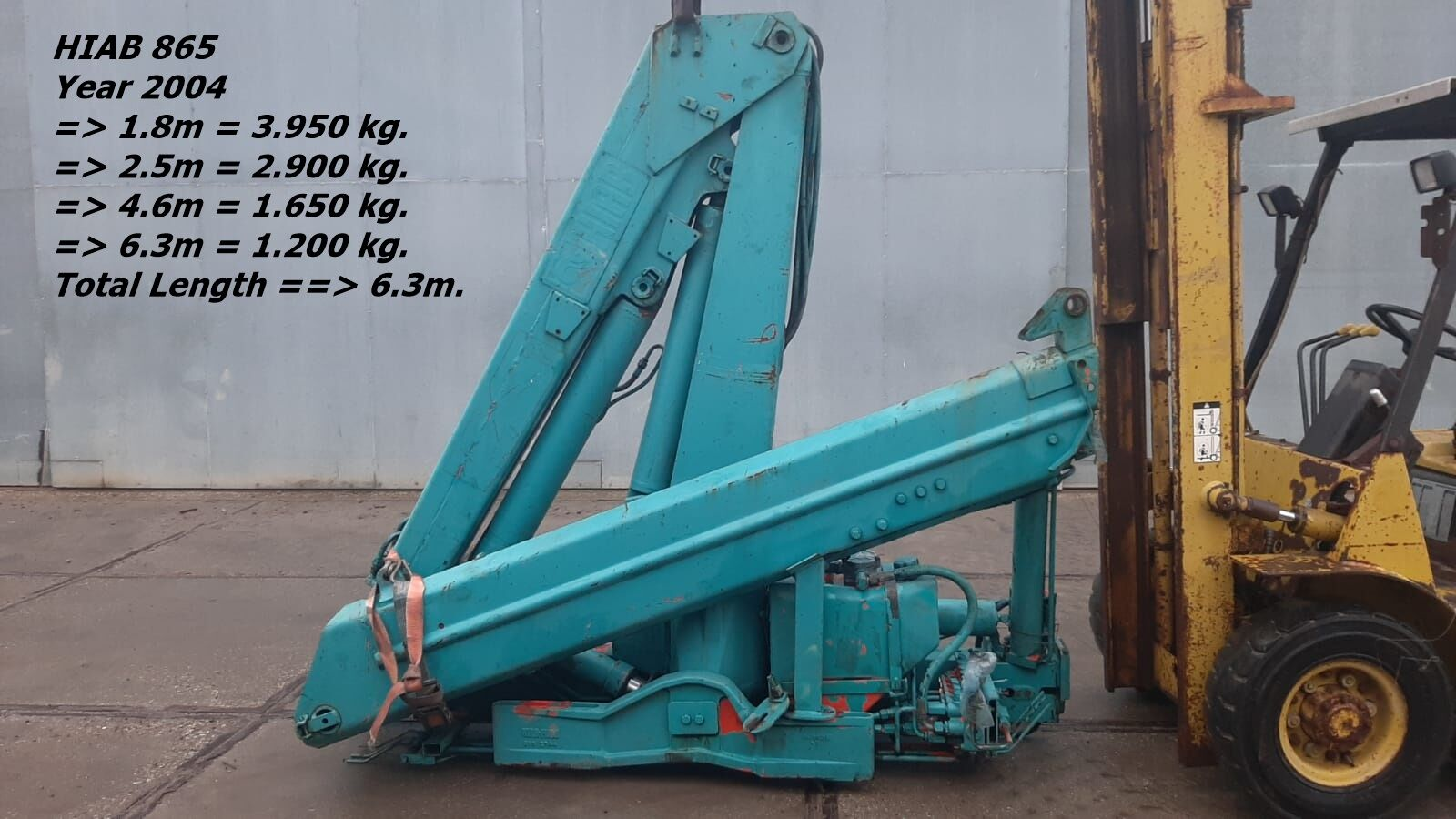 HIAB HIAB 865 => 1 x Hydraulisch loader crane
