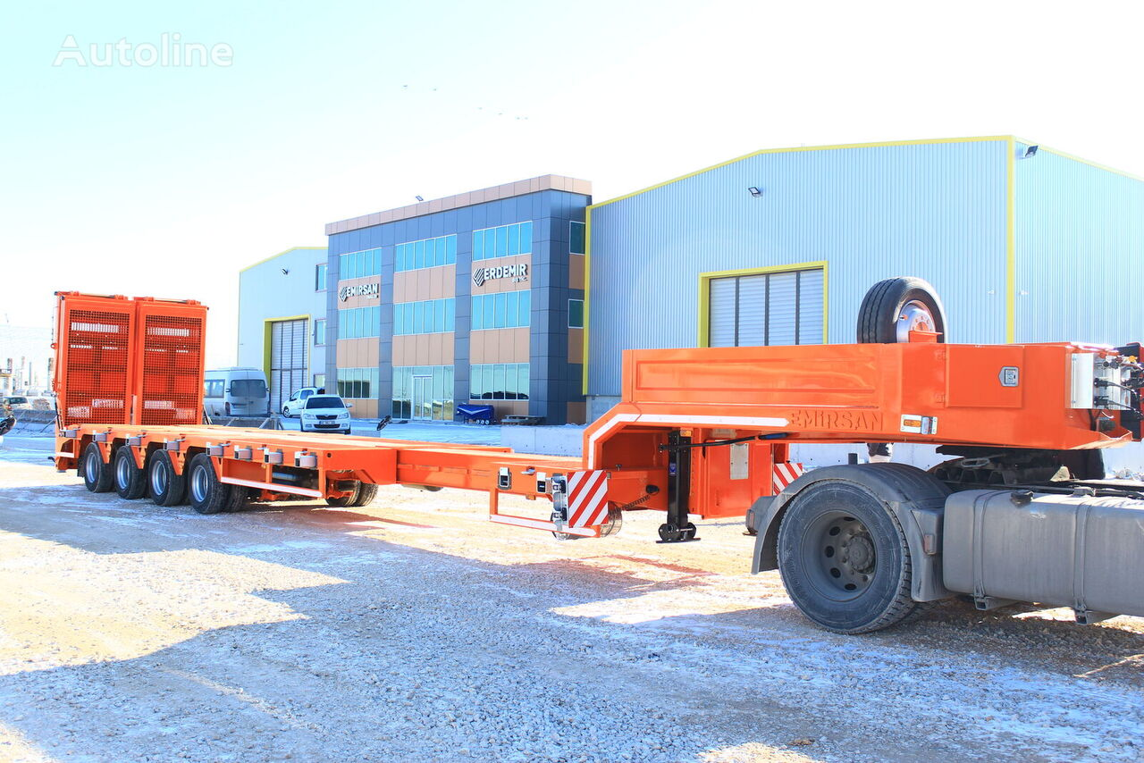 new EMIRSAN 4 AXLE LOWBED EXTENDABLE    low bed semi-trailer