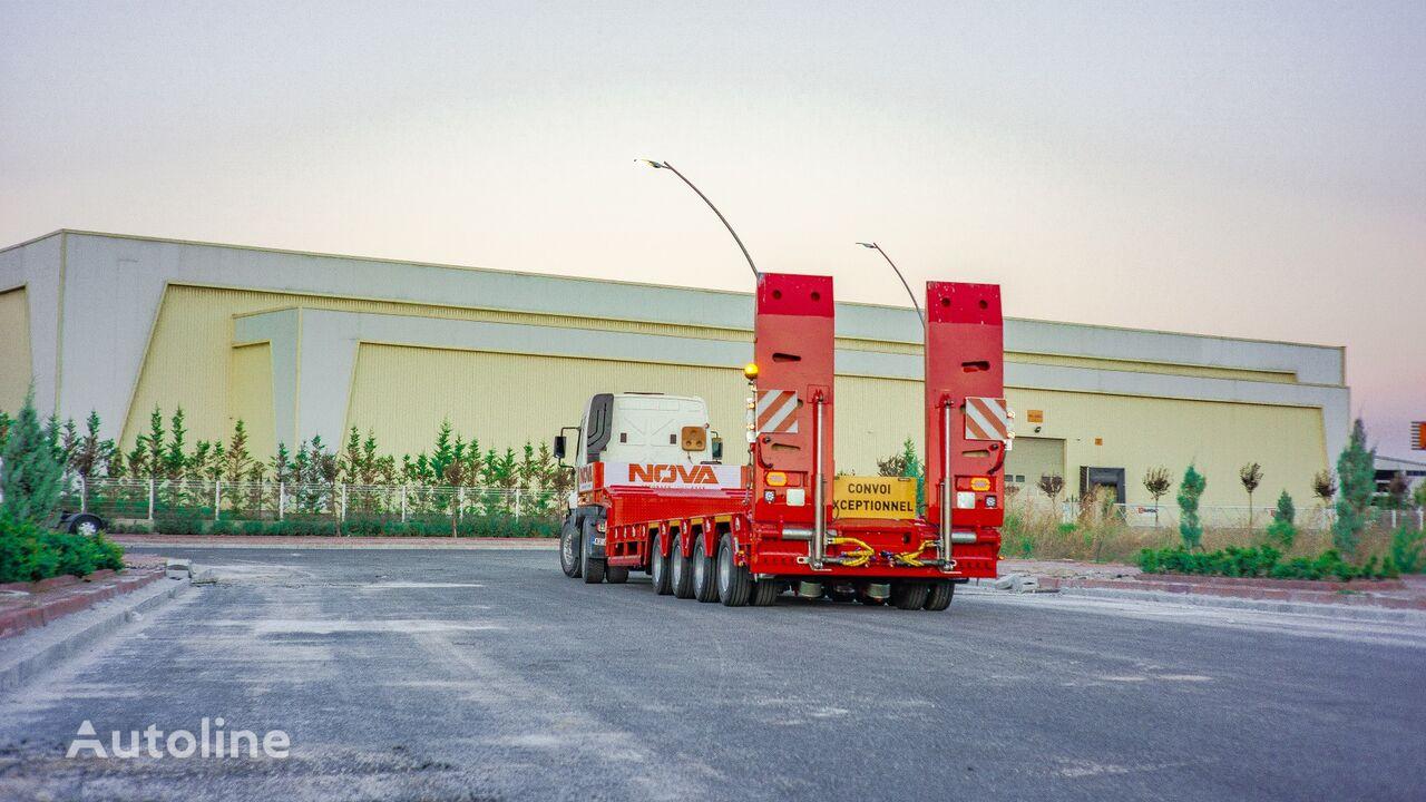 new NOVA NEW 4 AXLE LOWBED SEMI TRAILER PRODUCTION low bed semi-trailer