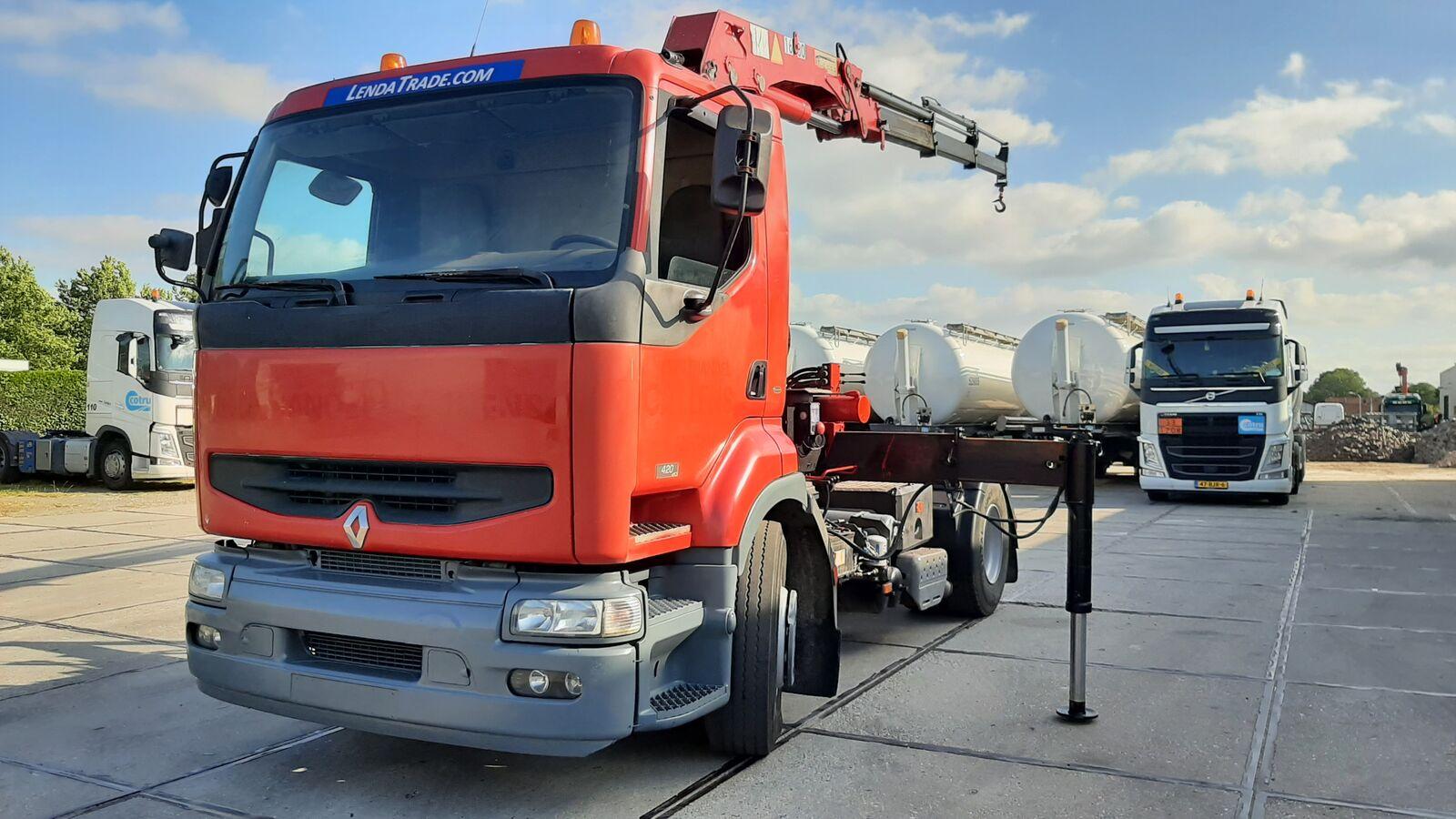 RENAULT Premium 420 DCi / Crane ==> 3 x Hydraulic tractor unit