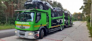 RENAULT Premium 410 car transporter + car transporter trailer