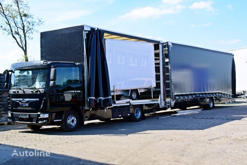 new MAN AUTOTRANSPORTER ZABUDOWA PIĘTROWA + PRZYCZEPA PRZEJAZDOWA car transporter + car transporter trailer