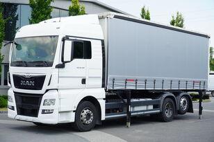 MAN TGX 26.480 XLX , E6 , 6X2 , Tarpulin 18 EPAL , height 2,55m curtainsider truck