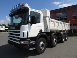 SCANIA P124G 420 8x4 MEILLER BORDMATIC HYDROKLAPA SUPER STAN dump truck