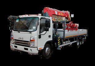 new JAC Бортовой автомобиль с КМУ FG-414 flatbed truck