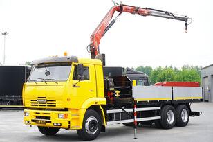 KAMAZ 65117 , 6x4 , Crane Fassi 95 , rotator , box 6m flatbed truck