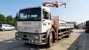 RENAULT G 230 Manager Full Spring Crane Atlas 13m. Long flatbed truck