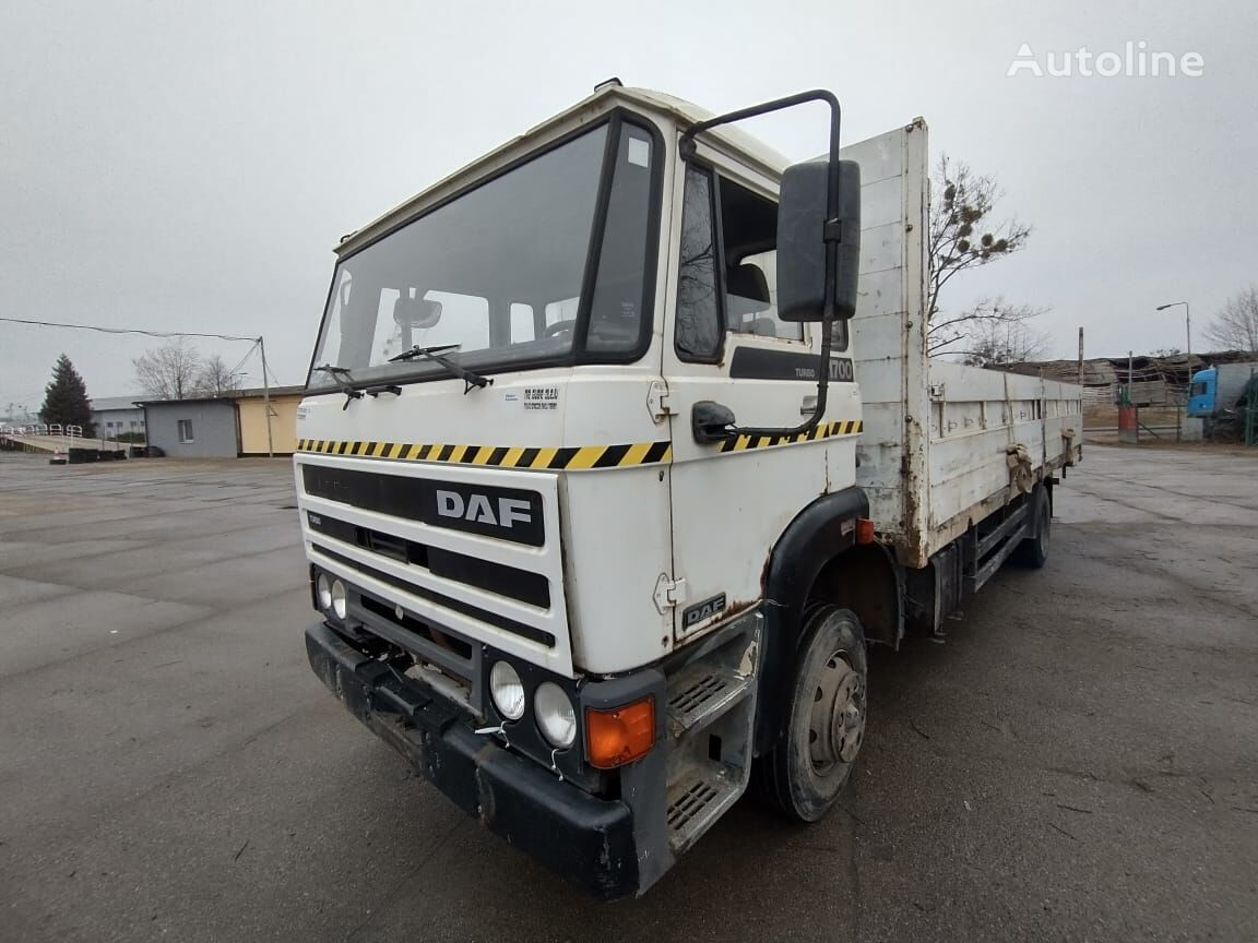 DAF 17.00 BIG GEARBOX 16 SPEEDS  Spring / Spring / Perfect Condition flatbed truck