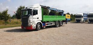 SCANIA R420 flatbed truck