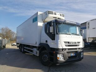 IVECO STRALIS 260S36 6X2 CELLA FRIGO 9 METRI, THERMOKING, PEDANA 2 TON refrigerated truck