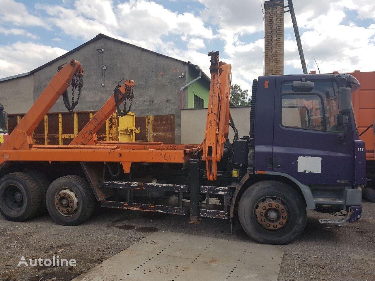 DAF CF 75 300 skip loader truck