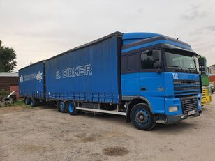 DAF тандем tilt truck + tilt trailer
