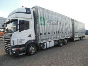 SCANIA G440 tilt truck + tilt trailer