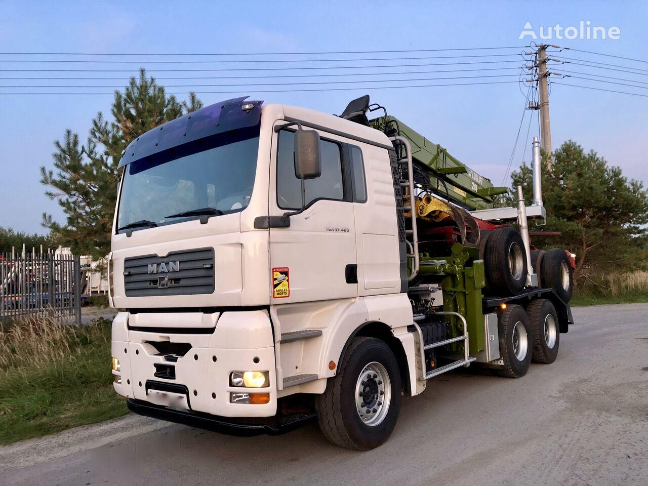 MAN 33. 480 KM 6x4 dzwig Loglift komplet Sprowadzony timber truck