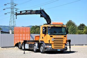 SCANIA  R420 Abschleppwagen 7,70m + FASSI F300.24/FUNK  tow truck